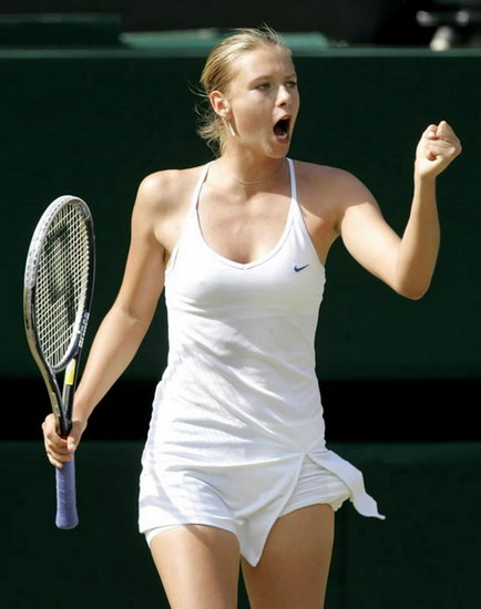 Maria Sharapova sucked it up at the 2008 French Open